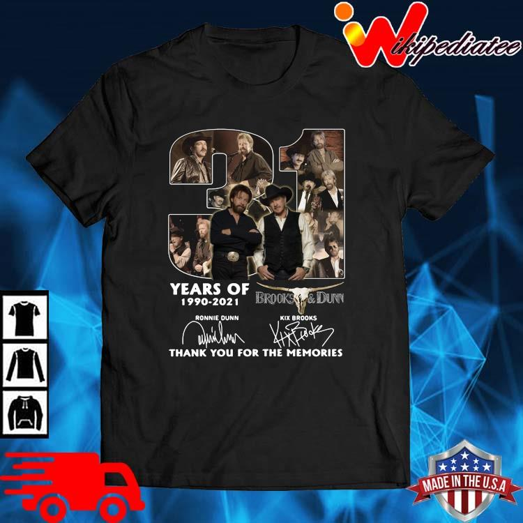 31 Years Of 1990 2021 Brooks And Dunn Signatures Thank You Shirt