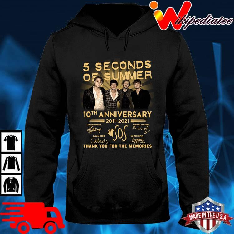 5 Seconds Of Summer 10th Anniversary 2011 2021 Signatures Thank You Shirt hoodie den