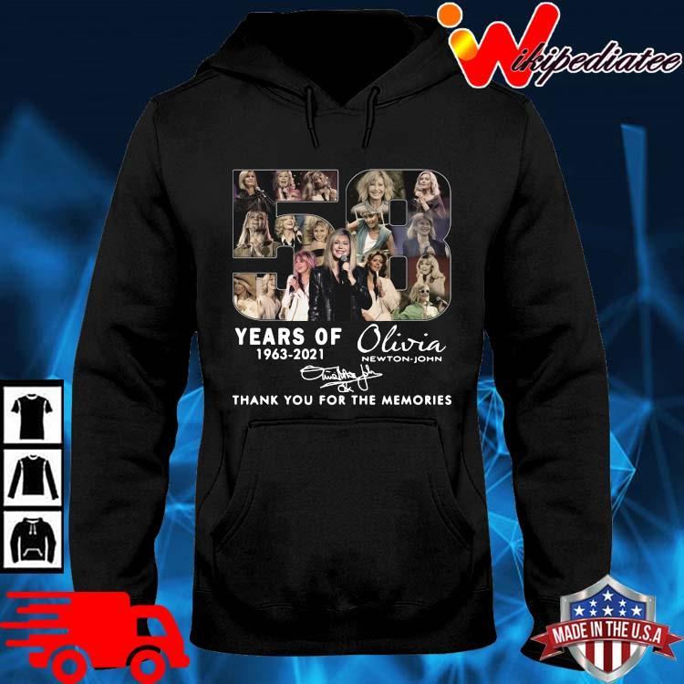 58 Years Of 1963 2021 Olivia Newton-john Signatures Thank You Shirt hoodie den