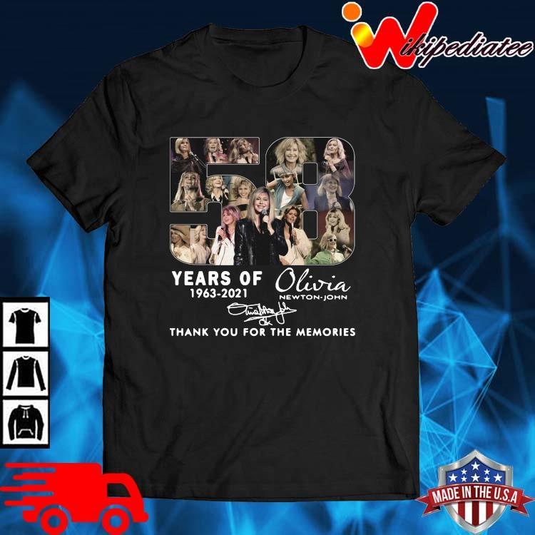 58 Years Of 1963 2021 Olivia Newton-john Signatures Thank You Shirt
