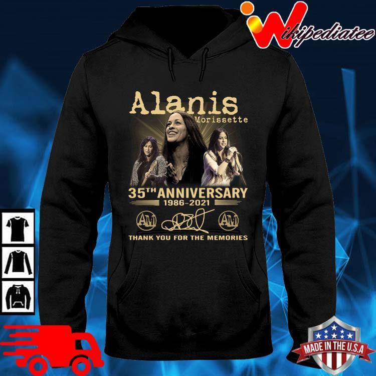 Alanis Morissette 35th Anniversary 1986-2021 Thank You Shirt hoodie den