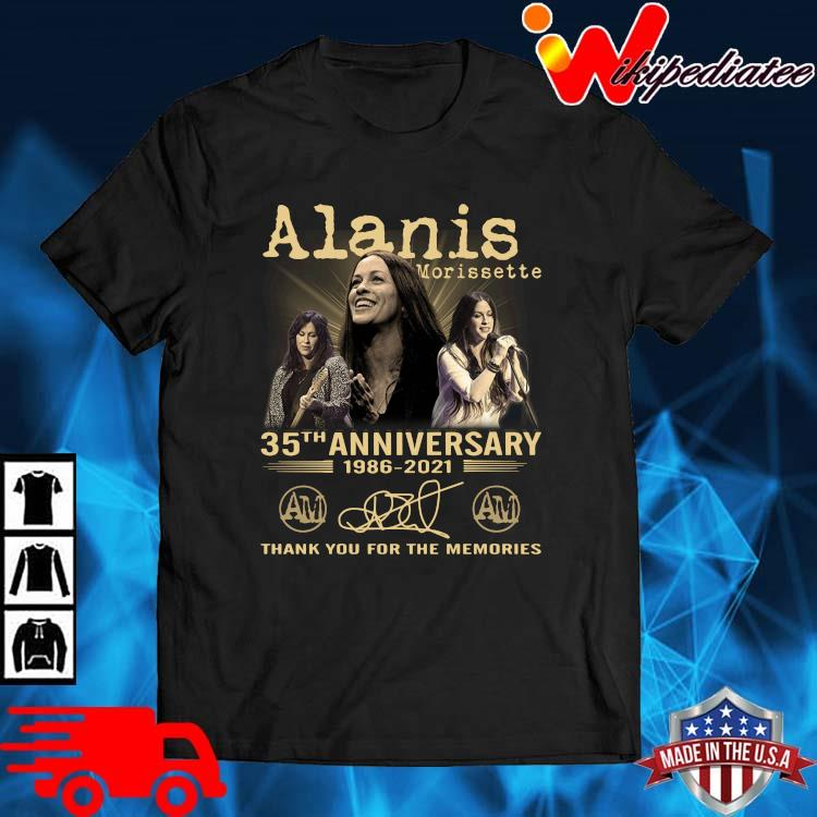 Alanis Morissette 35th Anniversary 1986-2021 Thank You Shirt