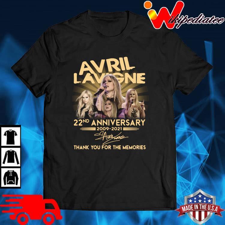 Avril Lavigne 22nd Anniversary 2009 2021 Signature Thank You Shirt