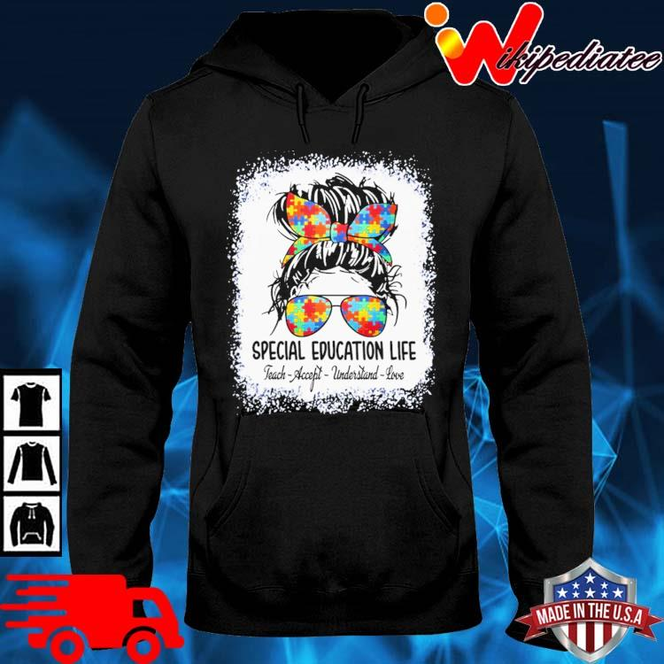 Girl Autism special education life teach-accept understand love hoodie den
