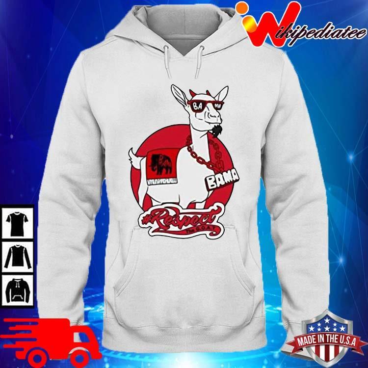 Goat Bama Respect Shirt hoodie trang
