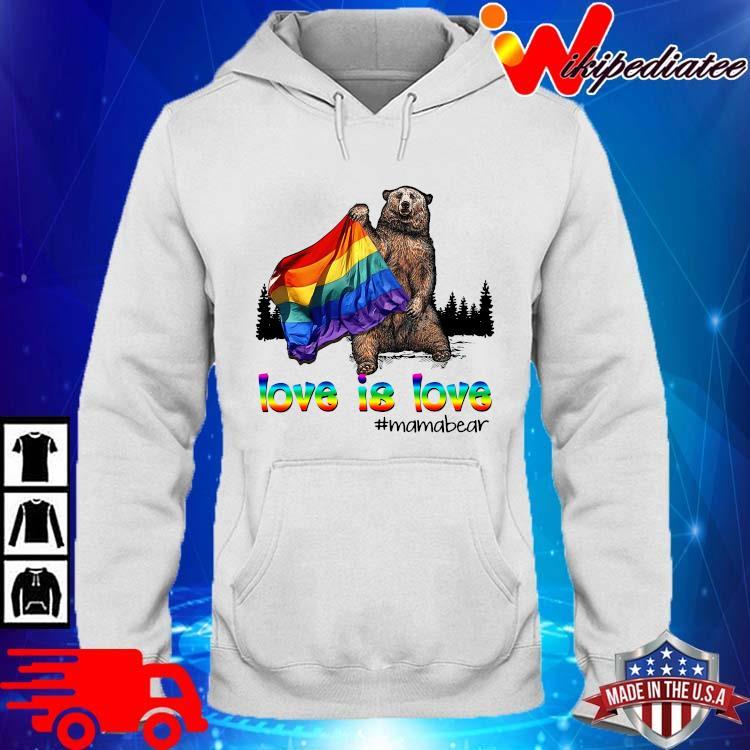 LGBT love is love #mamabear hoodie trang