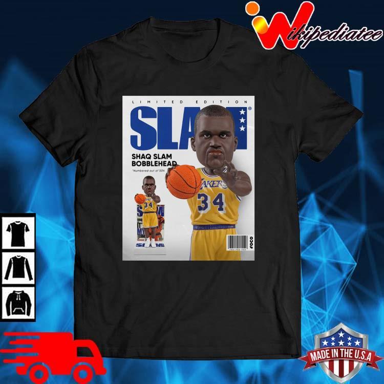 Limited Edition Slam Shaq Slam Bobblehead Shirt