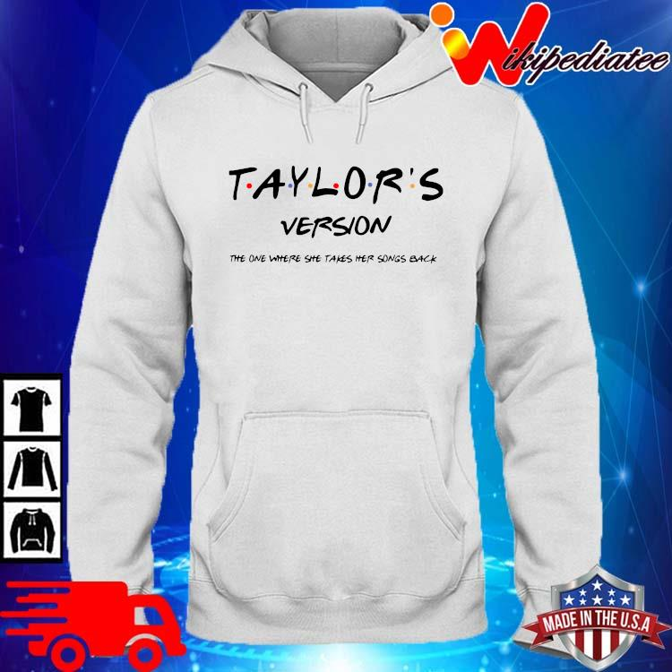 Official taylor's version the one where she takes her songs back hoodie trang