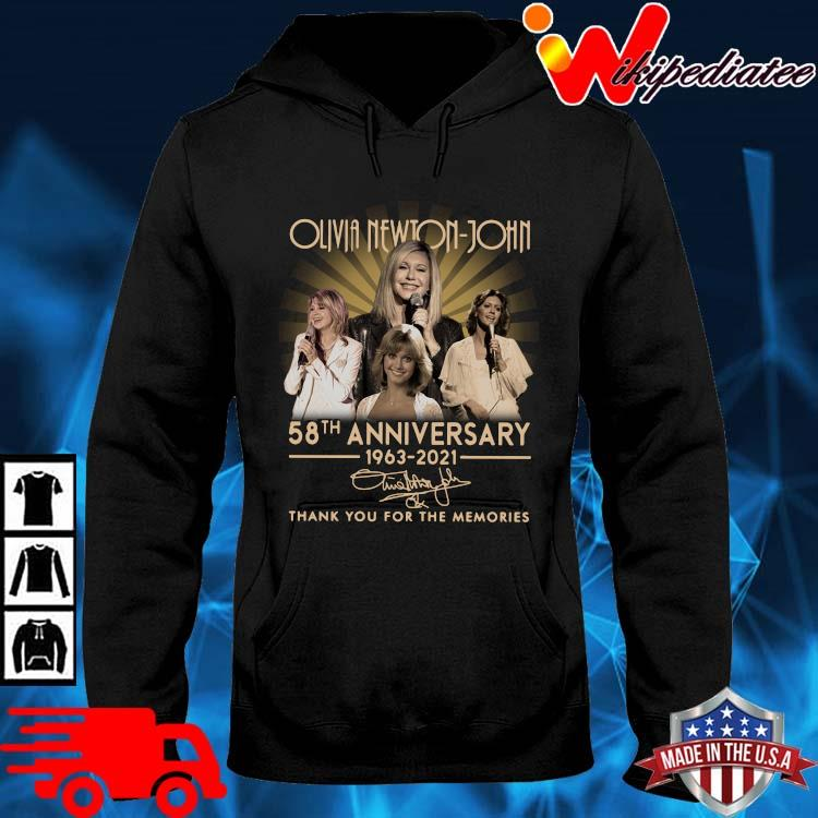 Olivia Newton-John 58th Anniversary 1963 2021 Signature Thank You Shirt hoodie den
