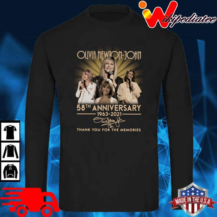 Olivia Newton-John 58th Anniversary 1963 2021 Signature Thank You Shirt long sleve den