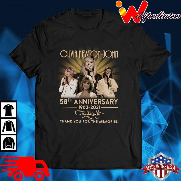 Olivia Newton-John 58th Anniversary 1963 2021 Signature Thank You Shirt