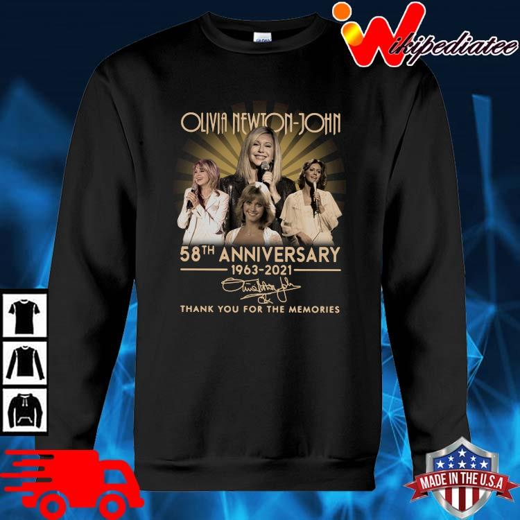 Olivia Newton-John 58th Anniversary 1963 2021 Signature Thank You Shirt sweater den