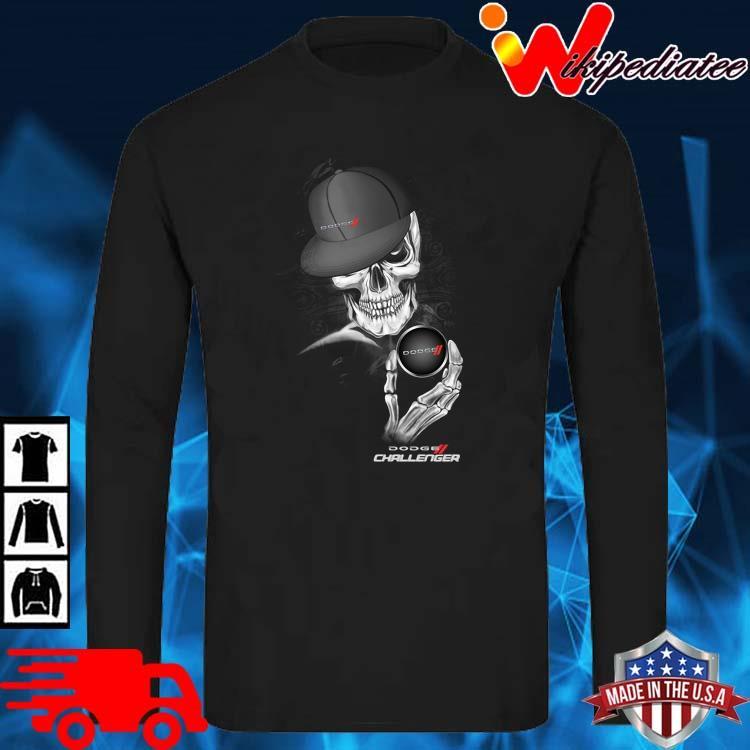Skeleton Dodge Challenger Shirt long sleve den