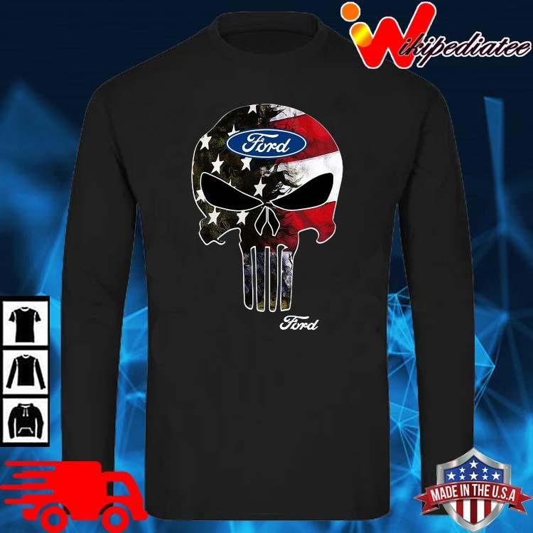 Skull Ford Logo Shirt long sleve den