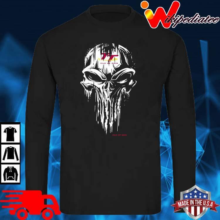 Skull Isle Of Man Logo Shirt long sleve den
