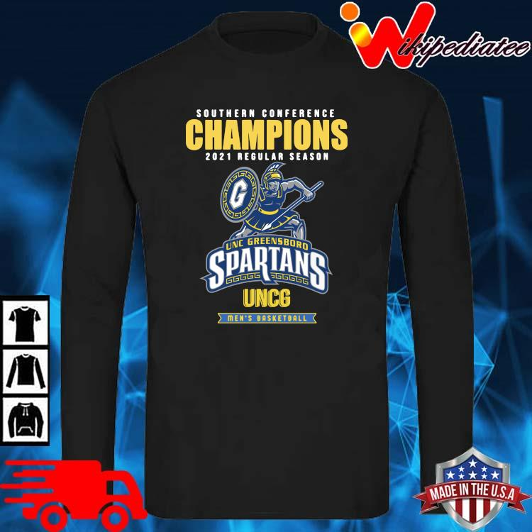 Southern Conference Champions 2021 Regular Season Unc Greensboro Spartans Uncg Men's Basketball Shirt long sleve den