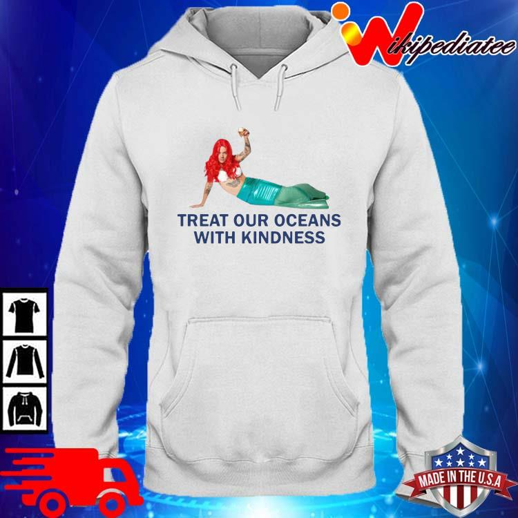 Treat our oceans with kindness hoodie trang
